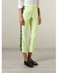 Christopher Kane - Yellow Contrast Tulle Trousers - Lyst