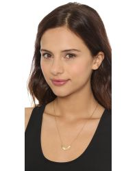Maria Black | Metallic Wing Necklace Gold | Lyst