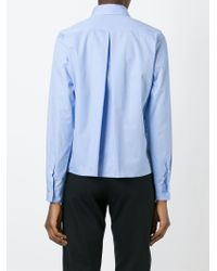AALTO   Blue Embroidered Shirt   Lyst