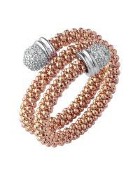 Links of London - Metallic Star Dust Rose Gold Wrap Ring - Lyst