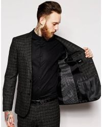 ASOS | Black Skinny Fit Suit Jacket In Textured Cloth for Men | Lyst