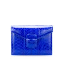 Oscar de la Renta - Blue Elaphe Small Grafton - Lyst
