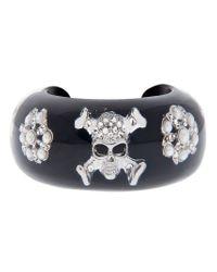 Nicholas King | Black Skull Cuff | Lyst