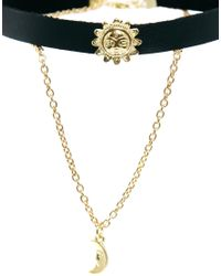 ASOS | Metallic Sun & Moon Choker Necklace | Lyst
