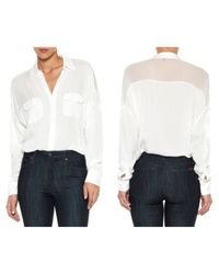 Joe's Jeans | White Dolman Sleeve Shirt | Lyst