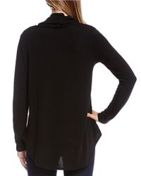 Karen Kane | Black Funnelneck Knit Sweater | Lyst
