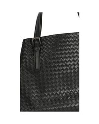 Bottega Veneta - Black Handbag Shopping Woven - Lyst