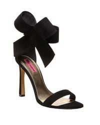 Betsey Johnson | Black Friskyy Fabric Stiletto Heels | Lyst