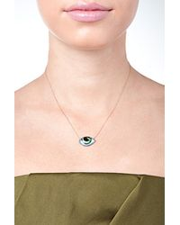 Lito - Metallic 14-Kt Gold Enamel Eye Necklace - Lyst