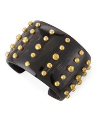 Ashley Pittman | Black Kiwiko Studded Cuff Bracelet | Lyst