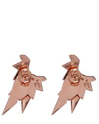 Maria Black - Metallic Rose Gold-plated Wing Jacket Stud Earrings - Lyst