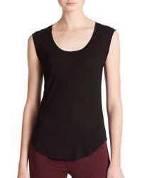 J Brand | Black Seacliff Sleeveless Jersey Top | Lyst