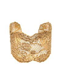 Aurelie Bidermann | Metallic Vintage Lace Bracelet | Lyst