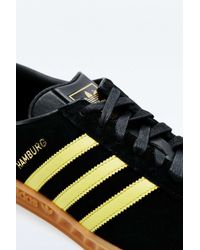 Adidas Originals - Hamburg Black And Yellow Trainers for Men - Lyst