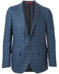 Isaia - Blue Woven Check Blazer for Men - Lyst