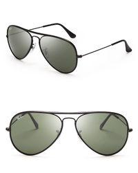 Ray-Ban   Black Aviator Sunglasses for Men   Lyst