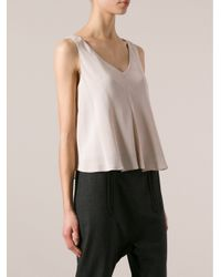Carven - Natural Haut Crepe Technical Top - Lyst