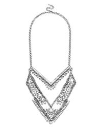 BaubleBar - Metallic 'xena' Bib Necklace - Lyst