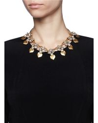 J.Crew | Metallic Multipoints Crystal Necklace | Lyst