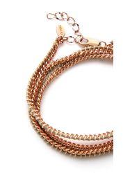 Shashi - Pink Rafi Bracelet - Navy/Rose Gold - Lyst