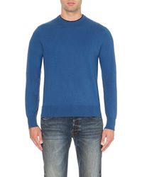 Paul Smith | Blue Contrast-trim Knitted Jumper for Men | Lyst