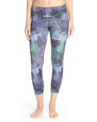 Onzie | Blue Printed Capri Pants | Lyst