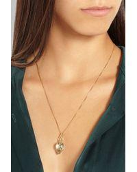 Alice Cicolini - Blue Lotus 18-karat Gold Amethyst and Diamond Necklace - Lyst