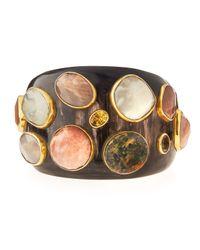 Ashley Pittman   Multicolor Mawe Dark Horn Cuff Bracelet   Lyst