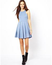 Glamorous | Blue Mini Dress with Full Skirt | Lyst