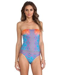 Nanette Lepore | Multicolor Bejeweled Goddess One Piece in Blue | Lyst
