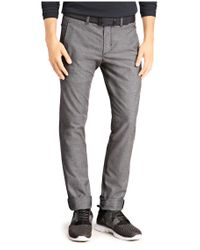 BOSS Green | Black Slim-fit Trousers: 'leeman-w' In Cotton Blend for Men | Lyst