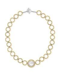 Alor - Metallic Classique Mother-Of-Pearl & Diamond Link Necklace - Lyst