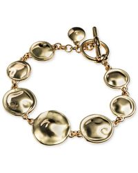 Jones New York | Metallic Gold-tone Disc Single-row Bracelet | Lyst