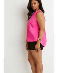 Forever 21 | Purple Plus Size Tulip-back Top | Lyst