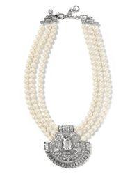 Banana Republic | White Deco Necklace | Lyst