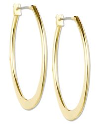 Anne Klein - Metallic Gold-Tone Large Oval Hoop Earrings - Lyst