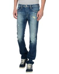 DIESEL | Blue Denim Trousers for Men | Lyst