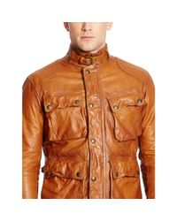 Polo Ralph Lauren - Brown Southbury Leather Biker Jacket for Men - Lyst