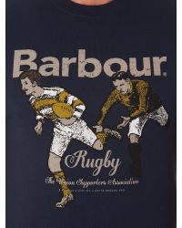 Barbour - Blue Land Rover Rugby Rugger Tee for Men - Lyst