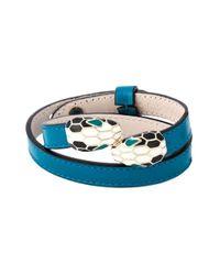 BVLGARI | Blue 'serpenti' Wrap Bracelet | Lyst