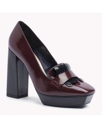 Tommy Hilfiger - Purple Leather Loafer - Lyst