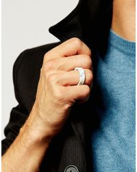 ASOS | Stone Look Ring In White for Men | Lyst