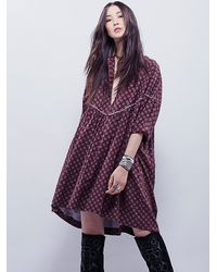 Free People - Red Womens Charade Dress - Lyst