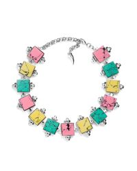Eshvi | Multicolor Back To School Marble Choker Necklace | Lyst