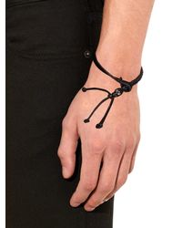 Alexander McQueen | Black Swarovski-Embellished Skull Bracelet for Men | Lyst