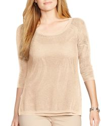 Ralph Lauren | Natural Lauren Linen-blend Mesh Sweater | Lyst