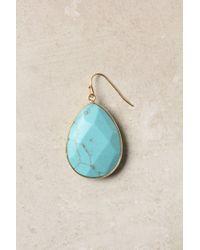 Anthropologie - Blue Gold Rung Earrings - Lyst