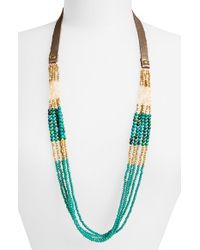 Panacea - Blue Crystal & Stone Multistrand Necklace - Teal - Lyst
