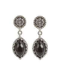 Konstantino | Black Silver & Marquise Onyx Drop Earrings | Lyst