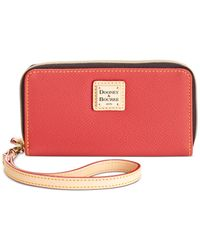 Dooney & Bourke | Red Zip Around Phone Wristlet | Lyst